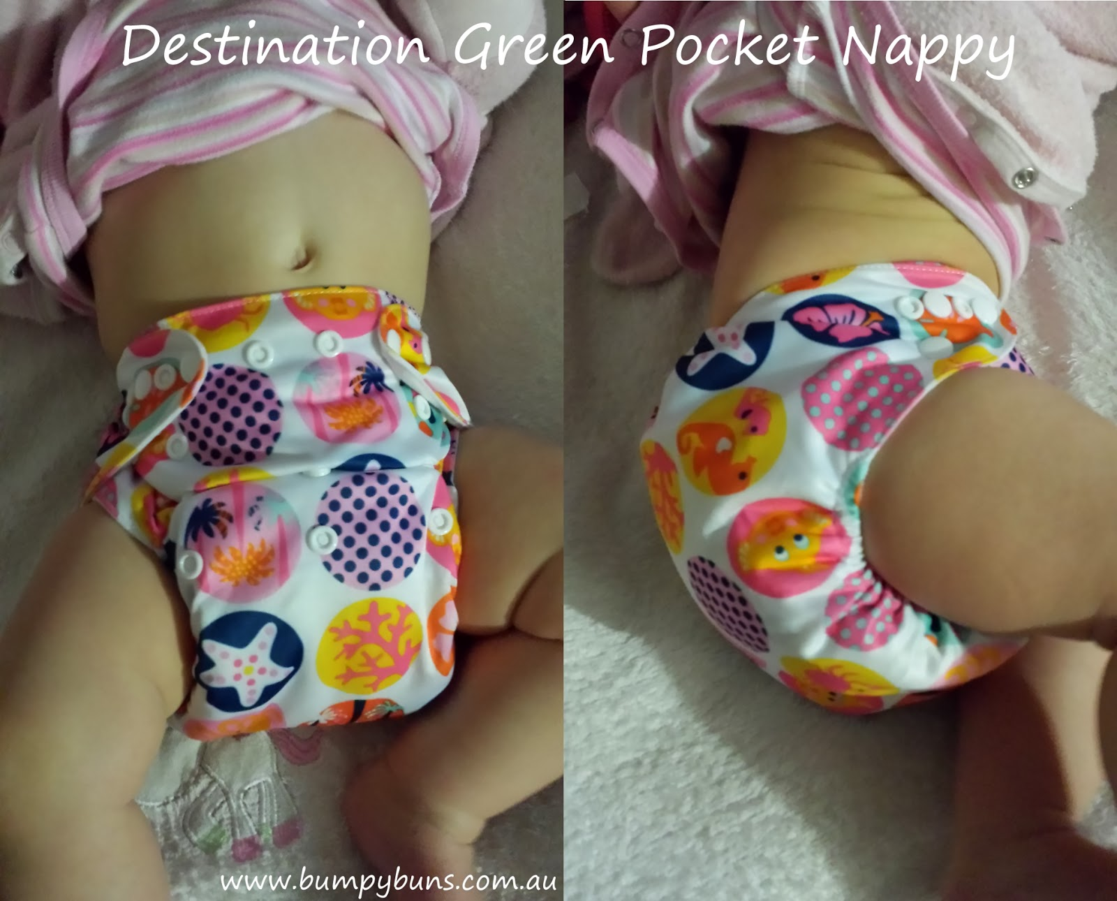 Destination Green Pocket Cloth Nappy