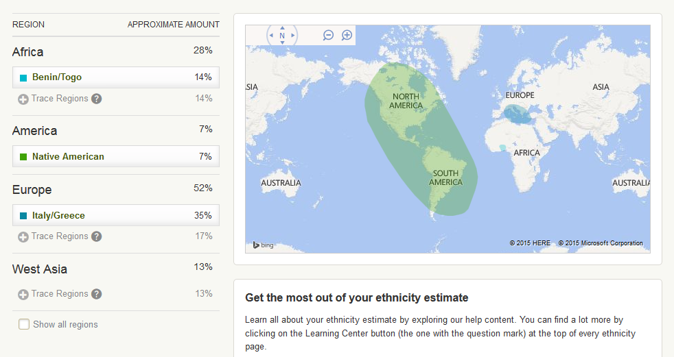 ancestry results