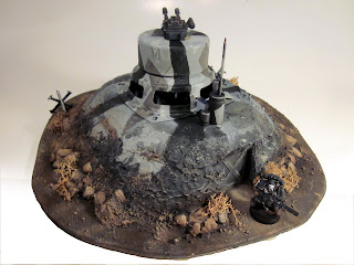 Completed Bunker for Warhammer 40k - Rear View
