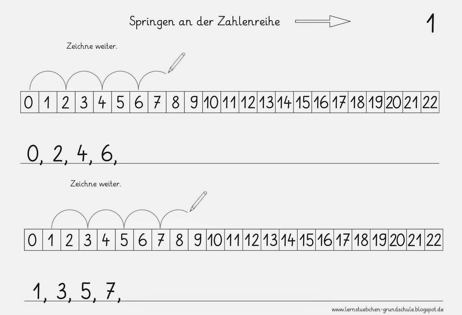 Lernstübchen: Zählen in Schritten