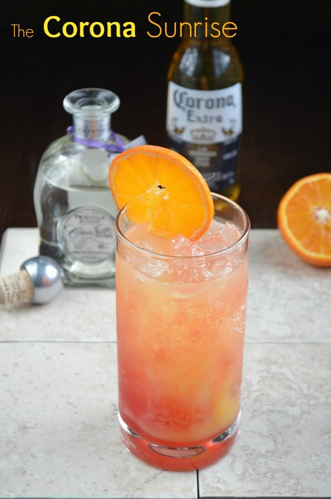 The Corona Sunrise Tequila and Beer Cocktail