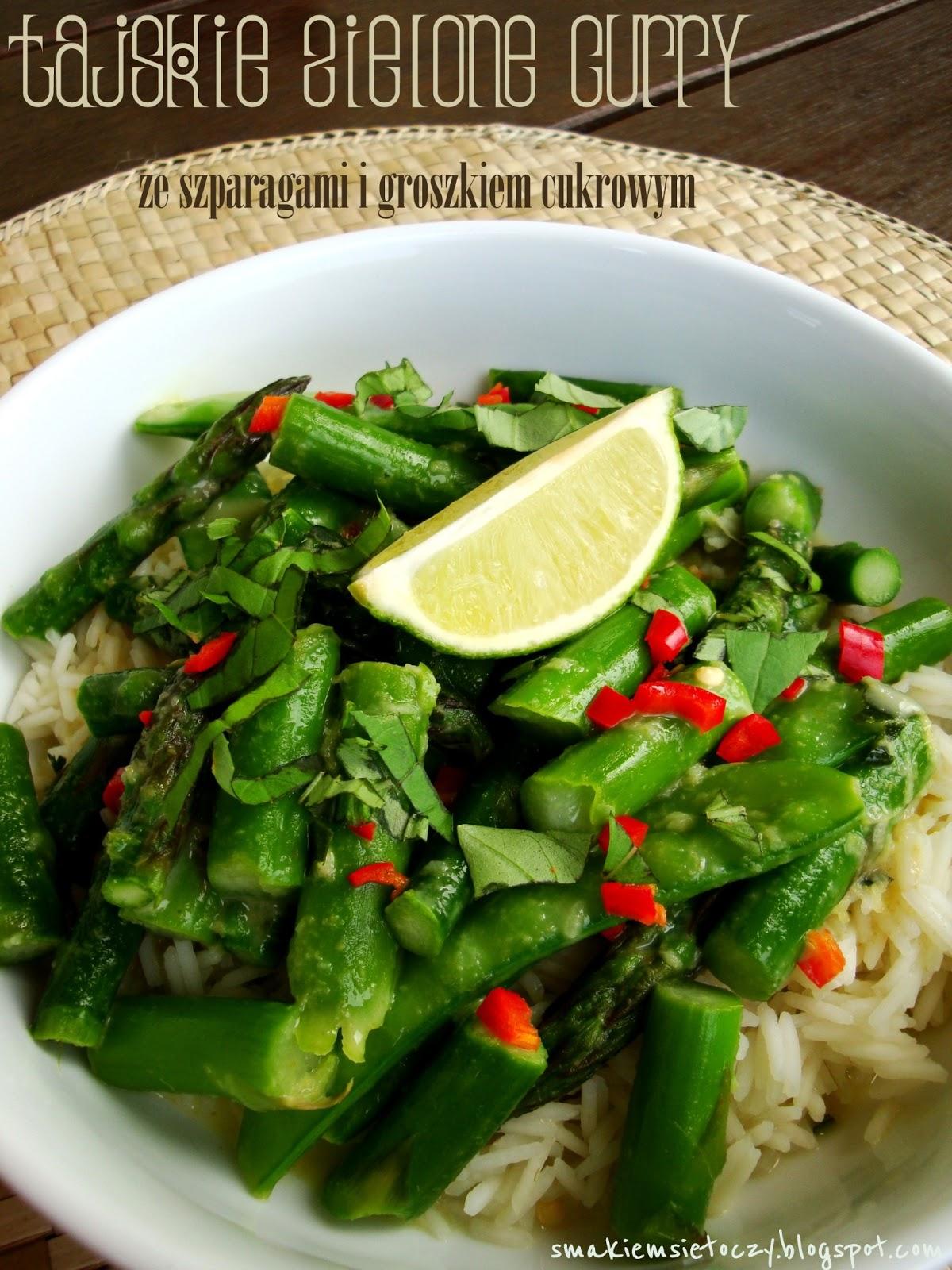Zycie Smakiem Sie Toczy Tajskie Zielone Curry Ze Szparagami I