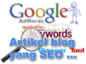 Blog Info, Artikel yang SEO