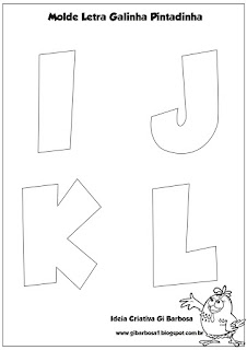 Molde Letras do Alfabeto Galinha Pintadinha
