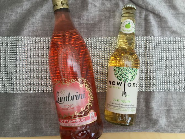 Lambrini and Newtons apple juice