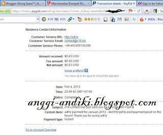 Payout Adf,ly Bulan February 2013