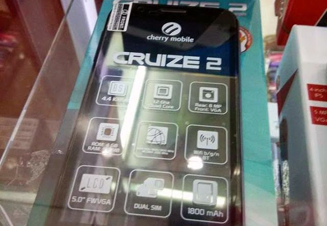 Cherry Mobile Cruize 2 '5-Inch Quad Core with Kitkat for ₱3,500' – Specs and Features