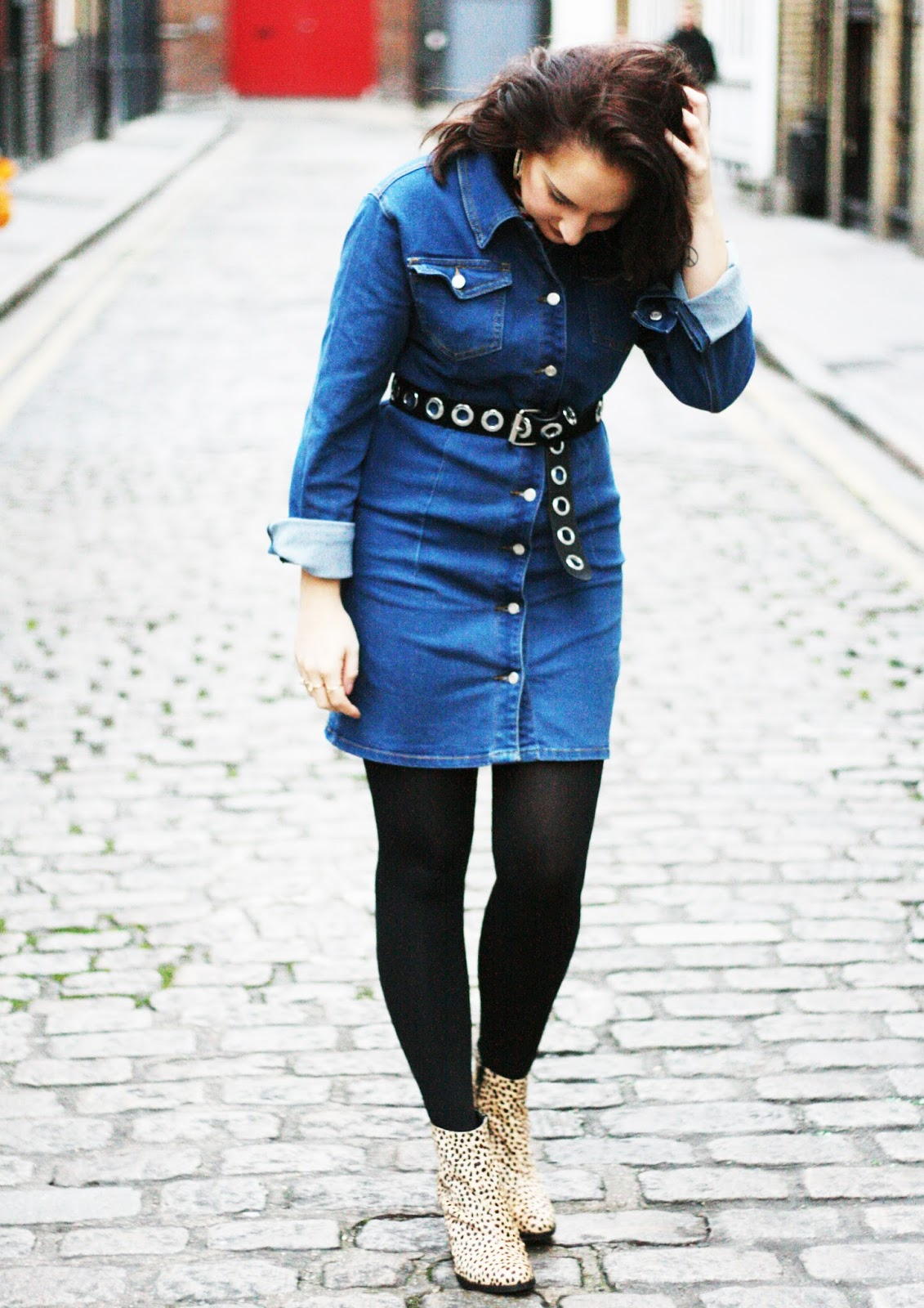 Boohoo denim dress