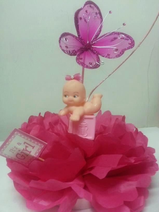Baby girl kewpie centerpiece