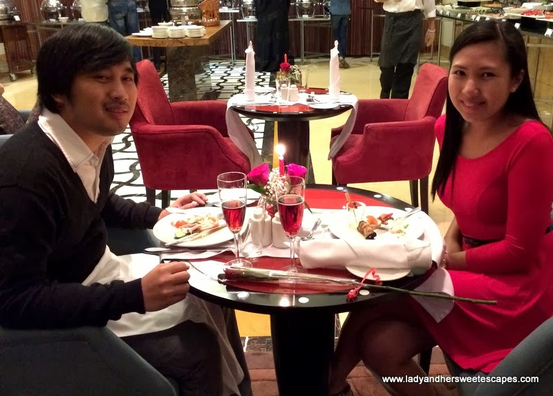 celebrating LOVE at Arabesque Cafe at Arjaan by Rotana