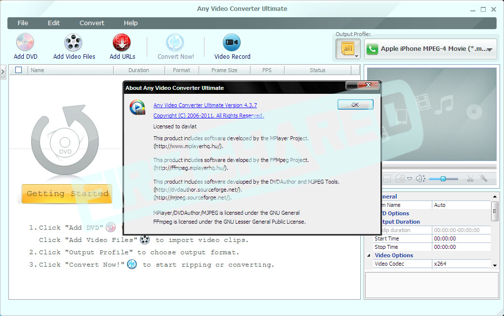 Any Video Converter Ultimate 4.3.7 Multilanguage Incl Crack.
