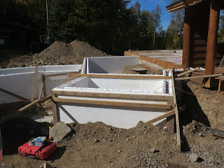 huismanconcepts.com, custom lake home ICF foundation walls
