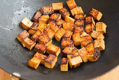 Stir-Fried Marinated Tofu and Mushrooms found on KalynsKitchen.com