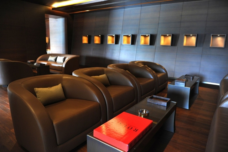 Leather chairs in Armani Burj Khalifa Hotel Dubai