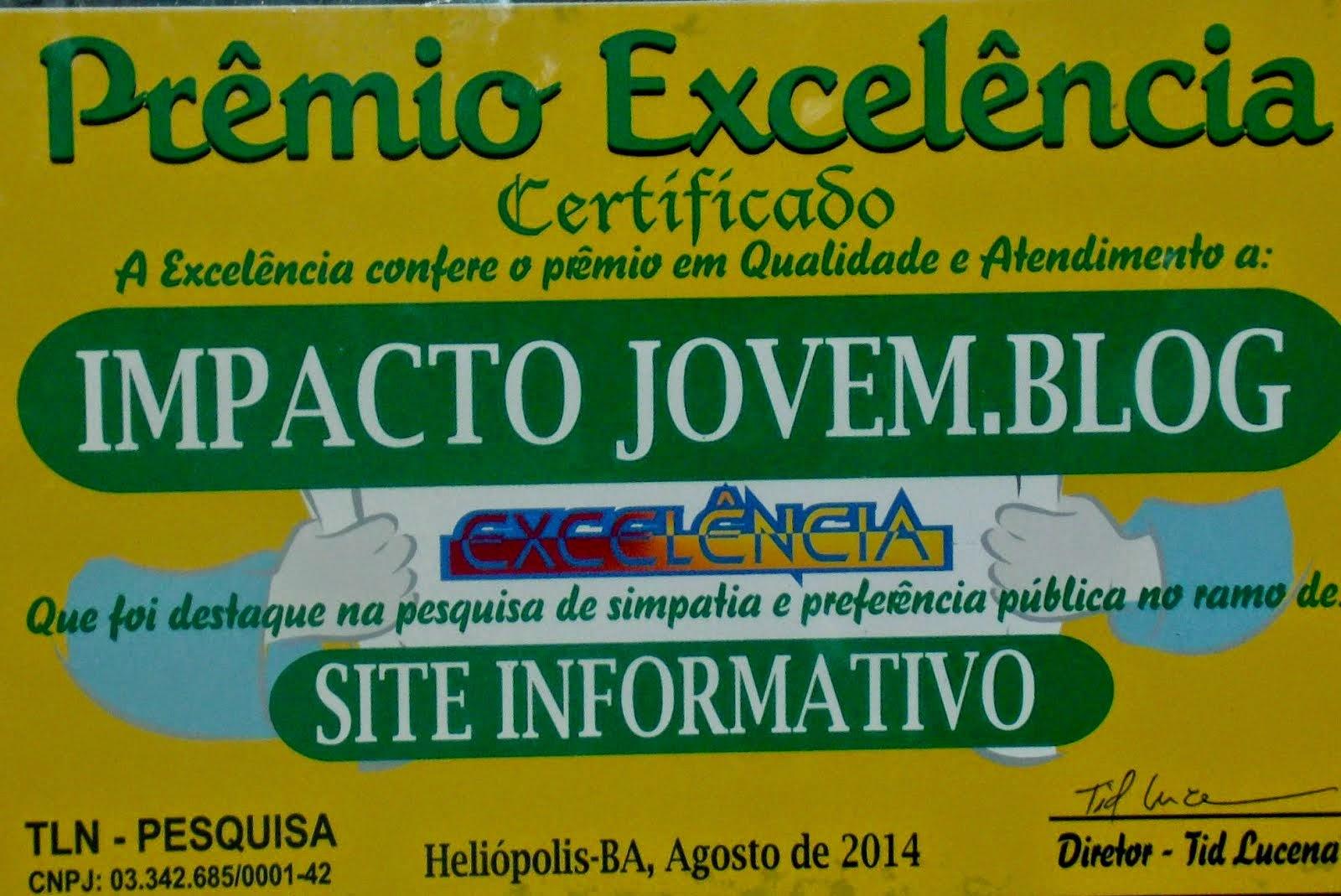 VENCEDOR DO PRÊMIO EXCELÊNCIA 2014