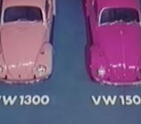 Campanha do Fusca apresentado nos anos 70: motor 1300 e 1500.