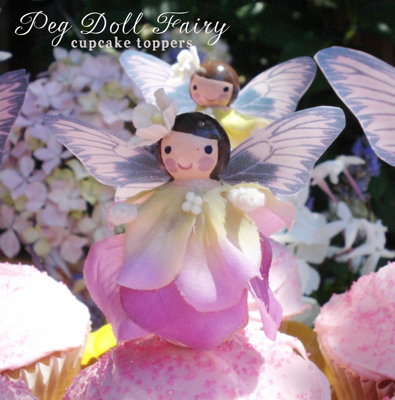 Jennuine by rook no 17 wooden peg fairy doll diy for for How to make fairy cupcakes