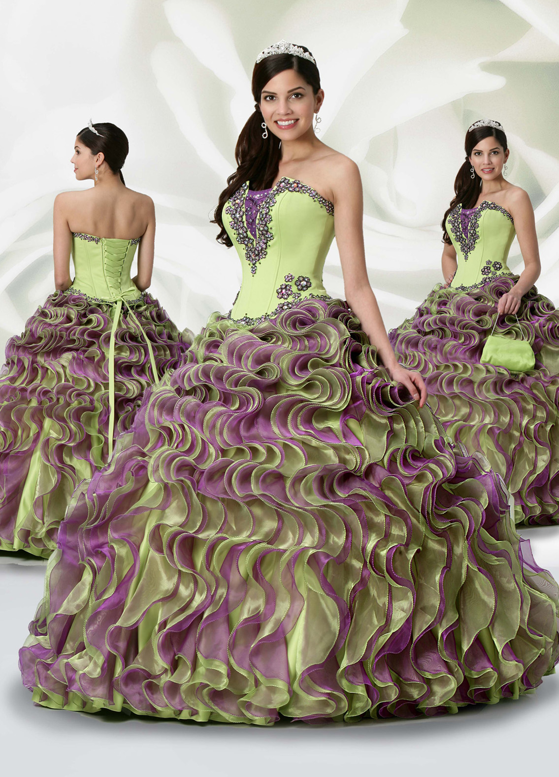 Greeen Ball Gowns
