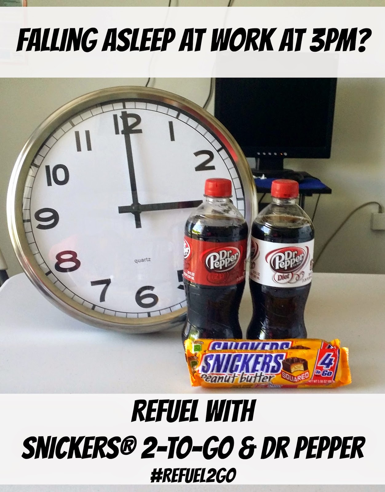 Beat the afternoon slump! Refuel with SNICKERS® 2-to-go and Dr Pepper #Refuel2Go #shop