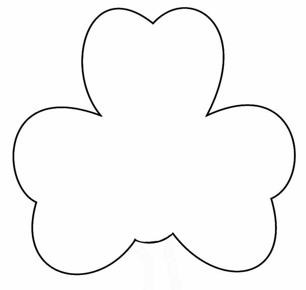 Mishmash st patrick 39 s day 17 de marzo for Shamrock cut out template