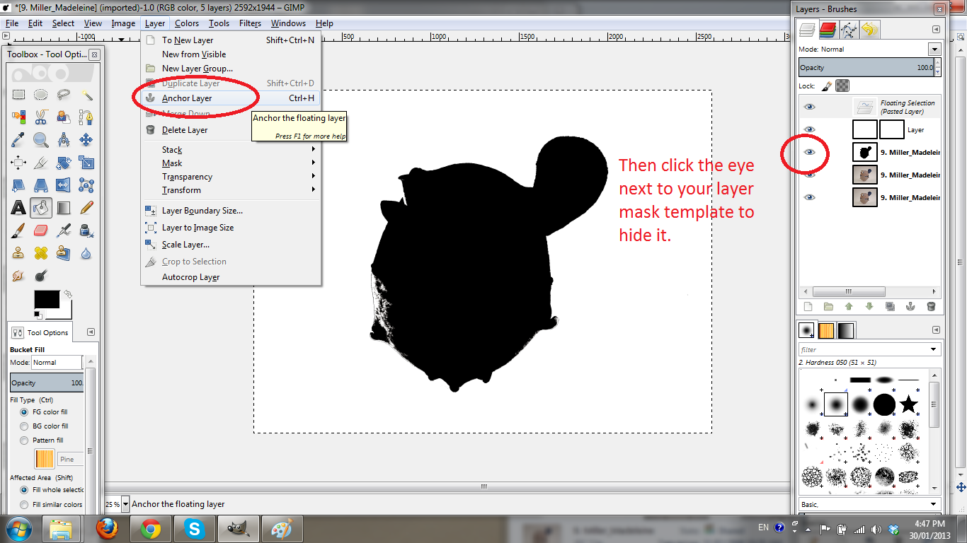 how to create image without background in gimp