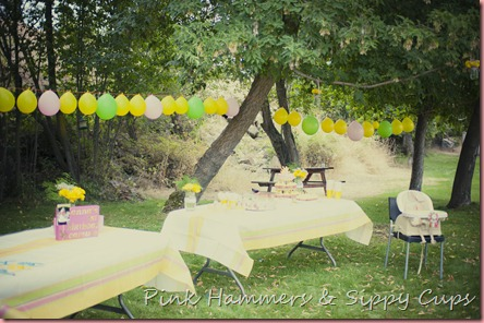 Everybody Loves A Party And This One Is Decorated In S T Y L E With Simple Inexpensive Decorations Backyard Set Up Looks Right Out Of