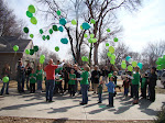 Sending prayers and green balloons