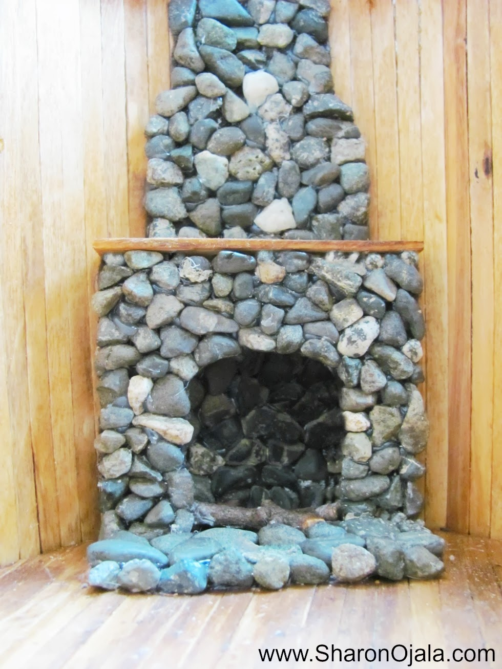 homemade obsessions how to make a simple stone dollhouse fireplace