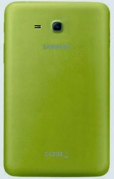 Gambar Samsung Galaxy Tab 3 Lite 7.0 3G Kuning Bagian Belakang