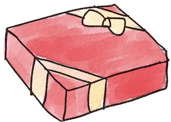 プレゼントのイラスト「赤い包装」