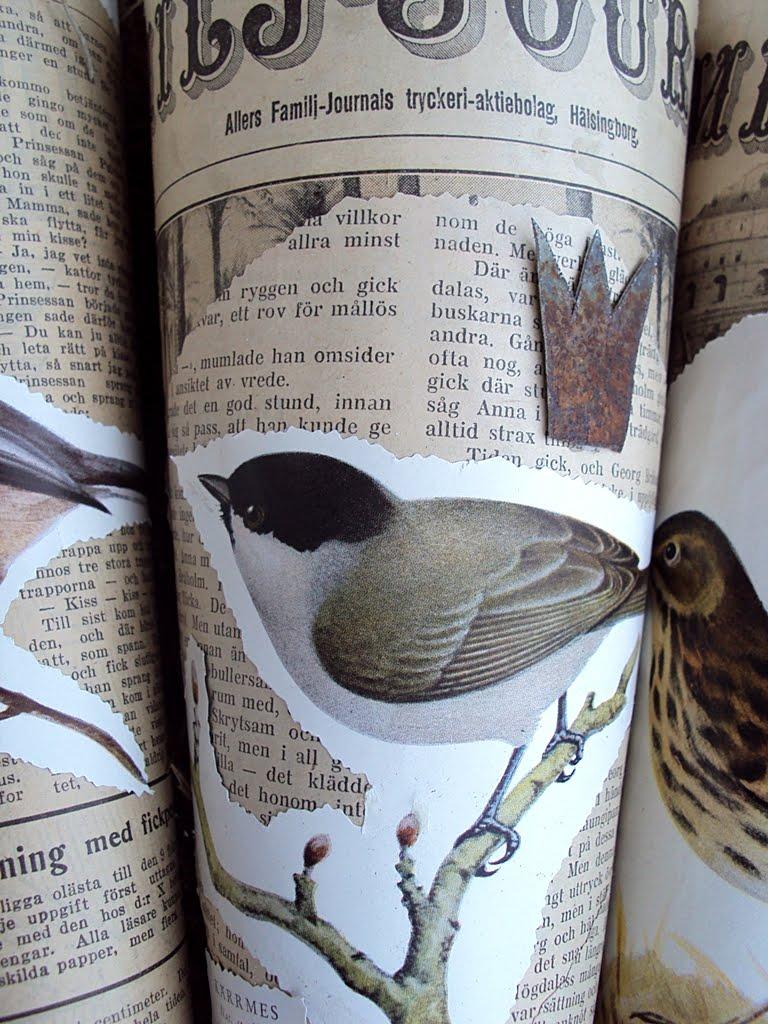 Systrarna: diy pyssel med gamla tidningar