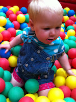 Ball Pit fun at Farmer Palmers