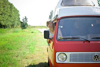 camper, volkswagen, joker, rood, zelf verven