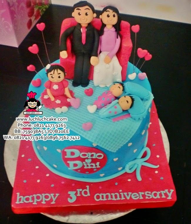 Kue Tart Anniversary Tema Keluarga Daerah Surabaya - Sidoarjo