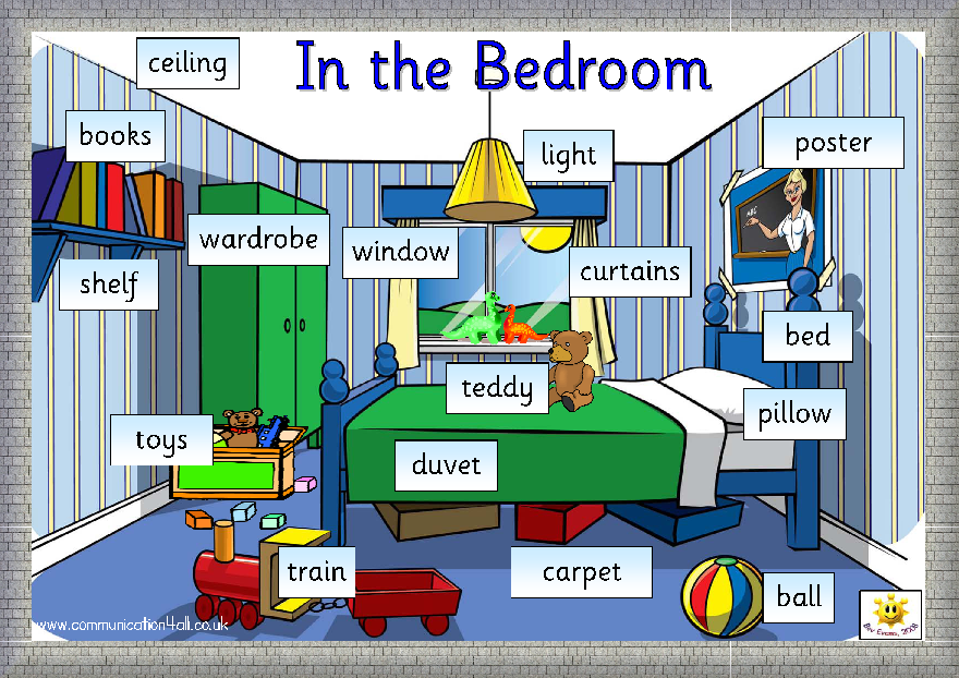 English Through Games MY BEDROOM VOCABULARY