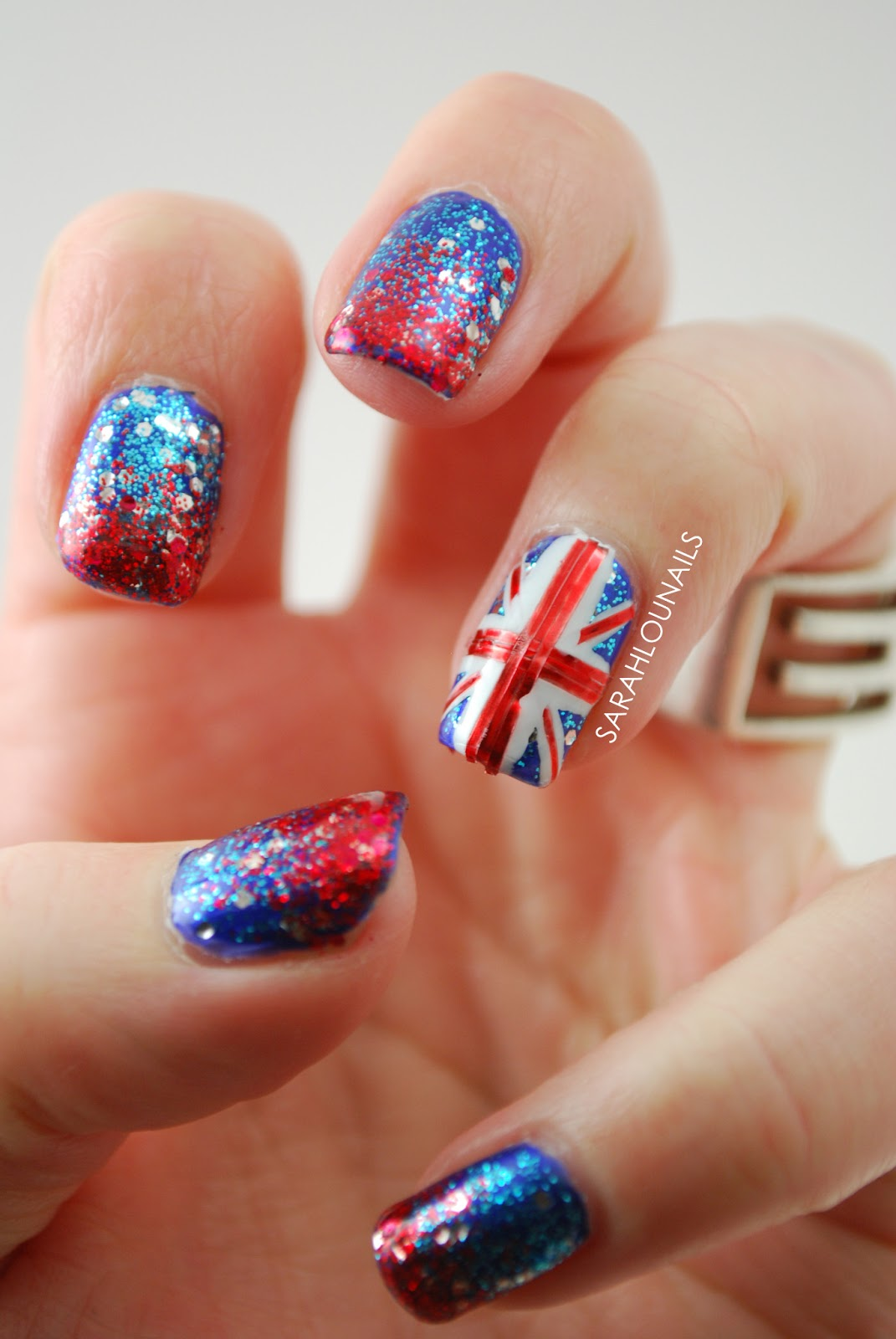 Sarah lou nails union jack nails union jack nails prinsesfo Image collections