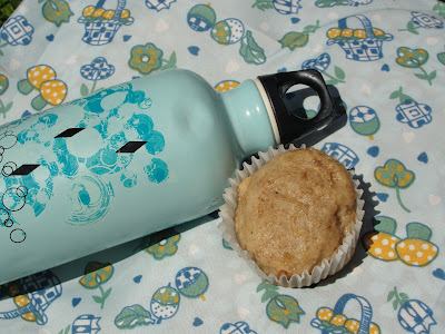 bottle of water and muffin
