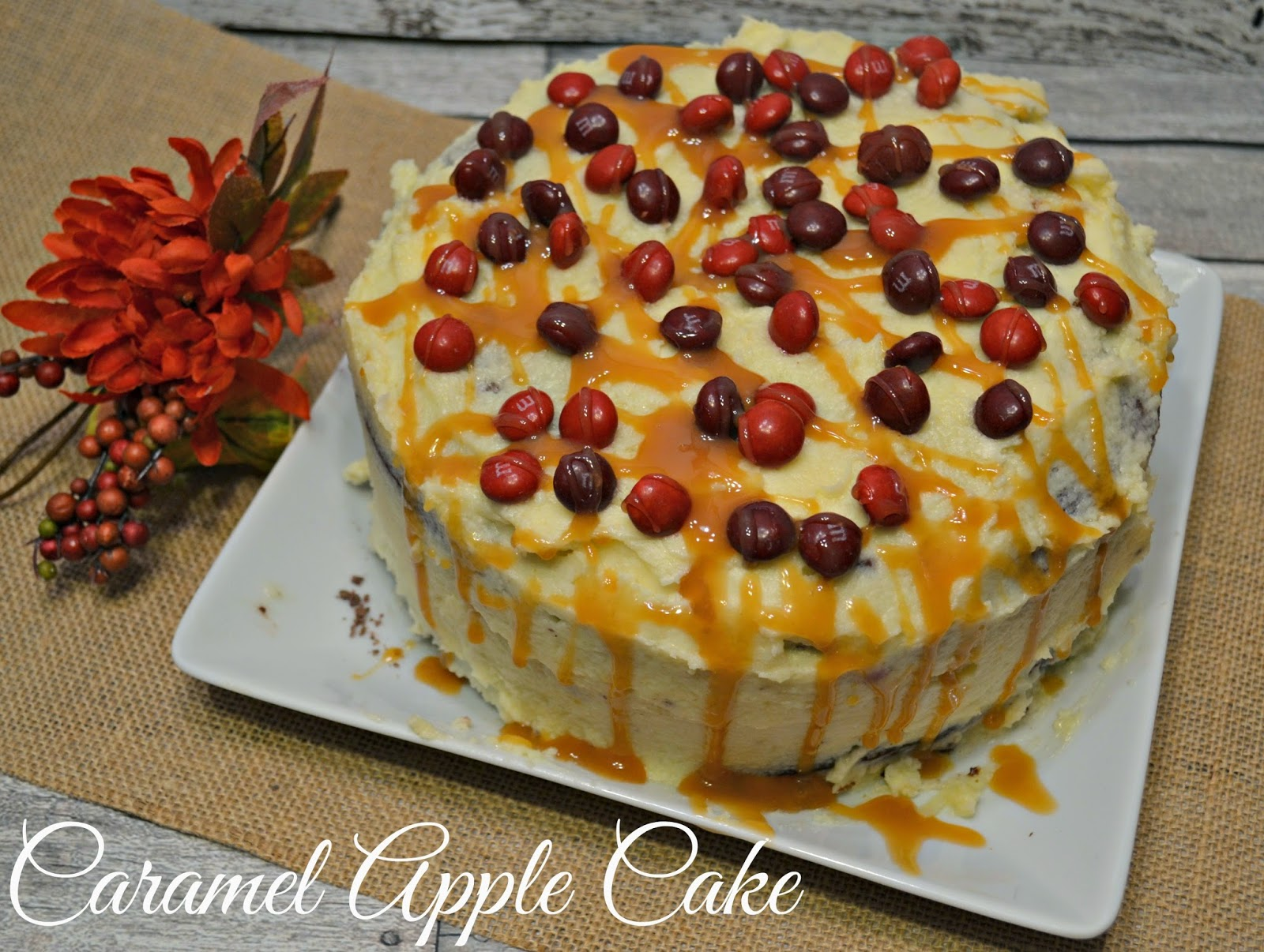Fall Recipes To Spice Up Your Kitchen:  Caramel Apple Cake and Fall Apple and Spice Stove Top Potpourri.  M&M's, Fall Recipes, Candy Corn, M&Ms, Candy Apple, Candy Corn, Apple Sauce, Apple Juice, Apple Recipes.  The flavors of Fall.  Stove Top Potpourri.  Cakes made with Applesauce.