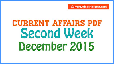 Current Affairs PDF December 2015