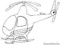 Gambar Helicopter Untuk Diwarnai
