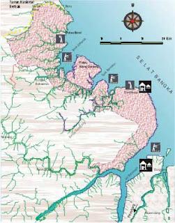 Peta Taman Nasional Sembilang