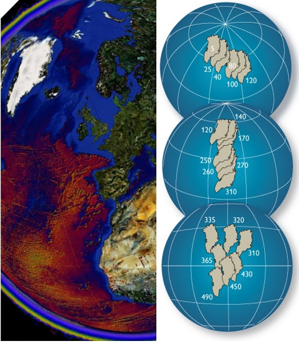 Greenland Plate tectonic movements from the tropics (Google Earth / GEUS)