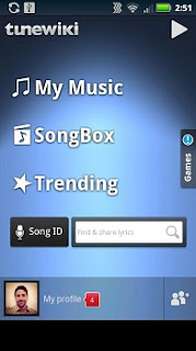 TuneWiki Music player app for Android