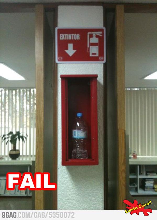 extintor, bombeiro, fail, eeeita coisa
