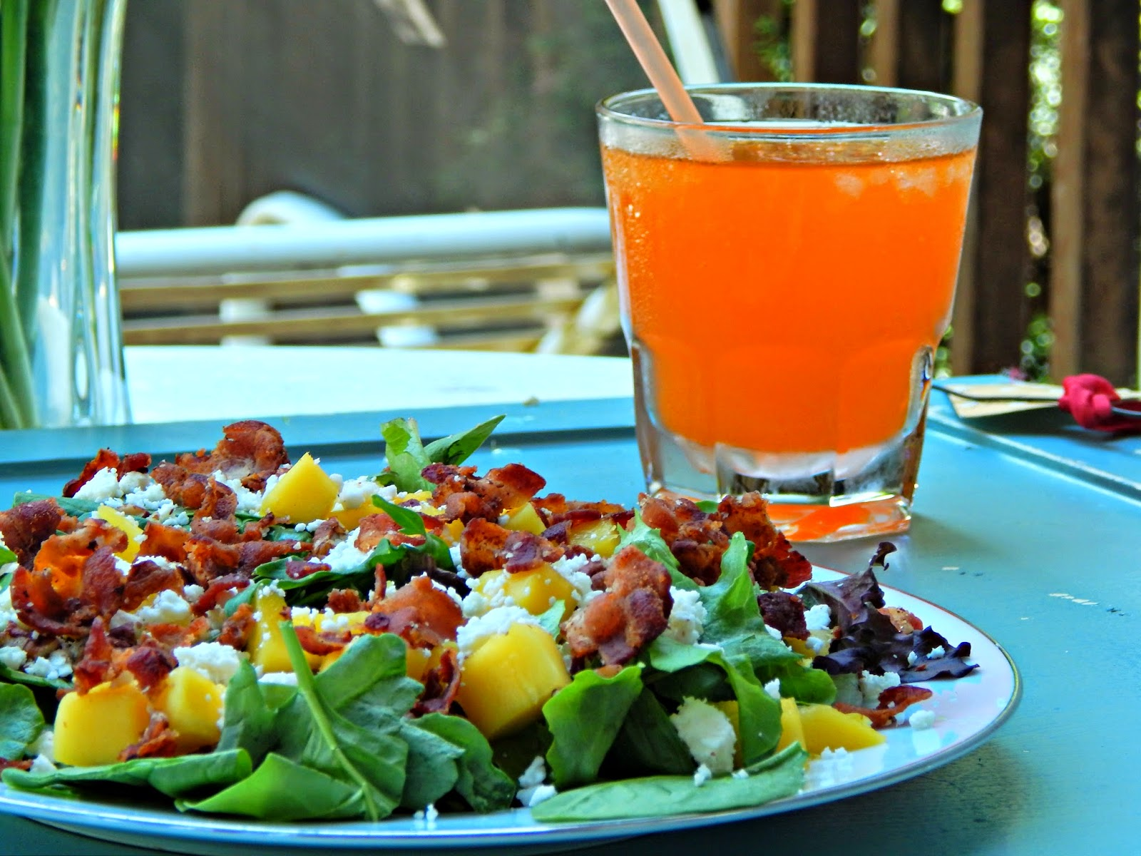 #FlavorForLess #Pmedia #ad Bacon Mango Salad