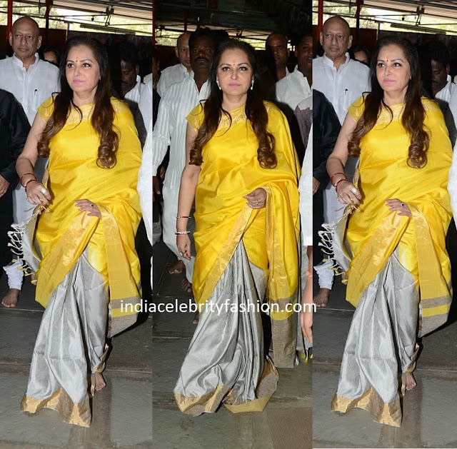 JayaPrada in Half and Half Silk Saree