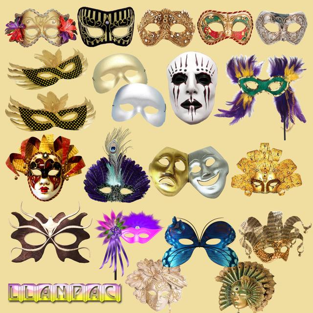 Coleccion de clipart de mascaras carnaval para Photoshop (Psd)
