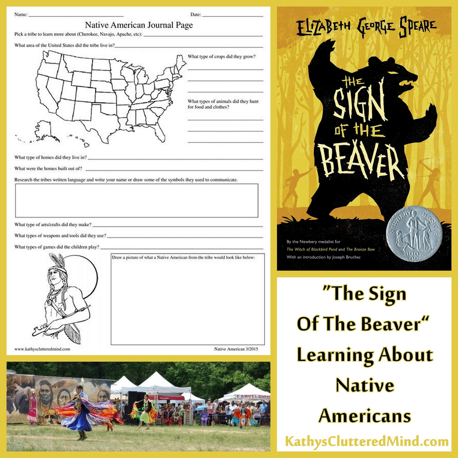 Kathys Cluttered Mind The Sign Of The Beaver Newbery Honor – Sign of the Beaver Worksheets