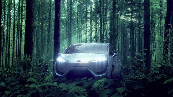 2015 Toyota hydrogen fuel cell car