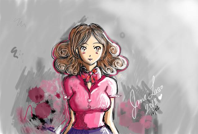 Chica manga dibujada en SketchBook Pro , pintura digital